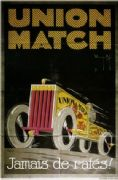Vintage car advertisment poster - Union Match